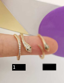 Fashion Snake Ring Real Gold Plated Diamond Snake Shape Ring Necklace Earrings