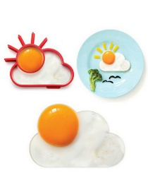 Fashion Red Sun Cloud Silicone Omelette