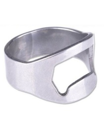 Fashion Silver Stainless Steel Beer Ring Bottle Opener
