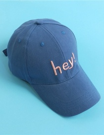 Fashion Navy Letter Embroidery Childrens Baseball Cap