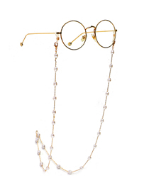 Fashion Golden Deformed Pearl Anti-lost Anti-drop Glasses Chain