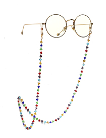 Fashion Color Handmade Triangle Crystal Chain Alloy Glasses Chain