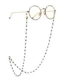 Fashion Black+white Triangle Crystal Chain Handmade Alloy Glasses Chain