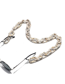 Fashion White Pattern Anti-slip Anti-lost Glasses Chain With Thick Acrylic Chain