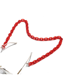 Fashion Red Acrylic Amber Thick Chain Eye Chain