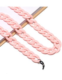 Fashion Pink Acrylic Thick Chain Glasses Chain