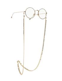 Fashion Golden Anti-skid Copper Chain Round Piece Handmade Glasses Chain