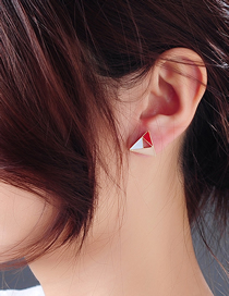 Fashion Red Hollow Geometric Alloy Earrings