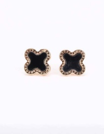 Fashion Gold Color Alloy Circle Rose Stud Earrings