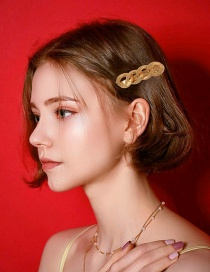 Fashion Golden Alloy Chain Hollow Hairpin
