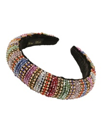 Fashion Fancy Diamond Diamond-studded Crystal Beaded Sponge Broad-edged Headband