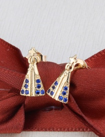 Fashion Golden Color Gilded Zircon And Our Lady Of Diamond Earrings