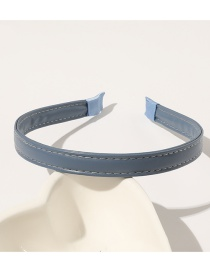 Fashion Denim Blue Pure Pu Leather Hair Band