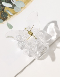 Fashion Transparent Butterfly Shape Resin Hollow Gripper