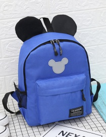 Fashion Royal Blue Mickey Stitching Nylon Fabric Contrast Color Childrens Backpack