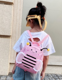 Fashion Pink Little Bee Nylon Children Backpack