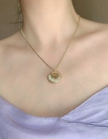 Fashion Gold Color Brass Shell Alloy Pendant Necklace