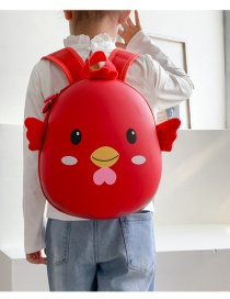 Fashion Chick Red Childrens Backpack With Chick Print Waterproof Eggshell