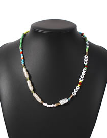 Fashion Color Pearl Letter Rice Beads Beaded Necklace