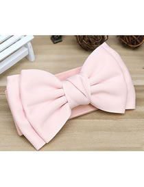 Fashion Pink Wide Elastic Belt With Bow