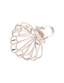 Fashion Shiny Gold Pearl Shell Mesh Hollow Clamp