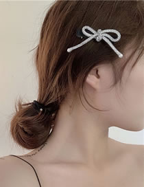 Fashion Hairpin Diamond-studded Butterfly Combined With Blond Hair Clip Hair Rope