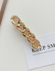 Fashion Large Golden Bright Chain Frosted Alloy Hairpin