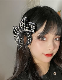 Fashion Black Pearl Butterfly Combined With Blonde Clip