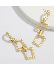 Fashion Golden Square Alloy Chain Geometric Multilayer Earrings