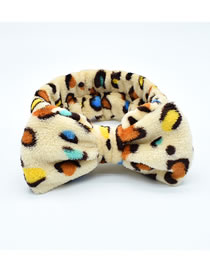 Fashion Color Mixing Milk Silk Butterfly Leaf Geometric Print Wide-brimmed Hair Band
