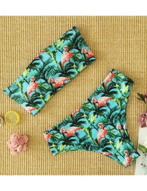 Fashion Black And White Strips Knotted Stripe Print High Waist Split Swimsuit