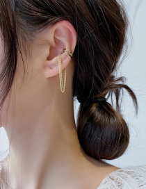 Fashion Golden (single) Multi-layer Chain Tassels Without Pierced Ears