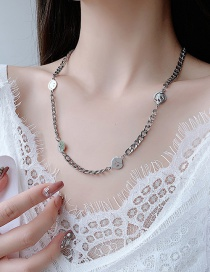 Fashion Smiley Face (single Layer) Smiley Face Round Thick Chain Alloy Multilayer Necklace