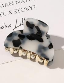 Fashion 5 Cm Leopard Print-white Resin Geometric Alloy Leopard Print Grip