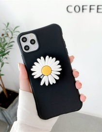 Fashion Daisy Black Folding Bracket All-inclusive Silicone Phone Case