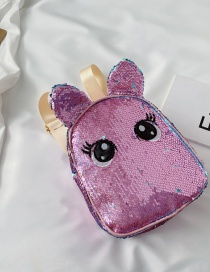 Fashion Pink Sequined Childrens Backpack Unicorn Small Backpack