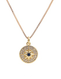 Fashion Six-pointed Star Round Cake Six-pointed Star Copper Inlaid Zircon Pendant Necklace