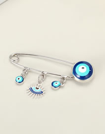 Fashion Silver Colorupper And Lower Eyelashes Palm And Eyes Oil Drop Alloy Micro-inlaid Zircon Brooch