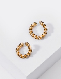 Fashion Gold Color Alloy Twist Without Pierced Ear Clip