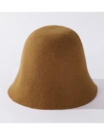 Fashion Coffee Color Cashmere Solid Color Fisherman Hat