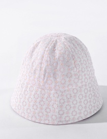 Fashion Milky White Three-dimensional Embroidery Small Flower Fisherman Hat
