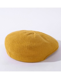Fashion Yellow Wool Light Board Solid Color Forward Hat