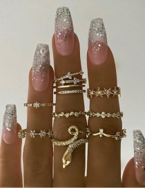 Fashion Rose Gold Wave Hollow Alloy Ring