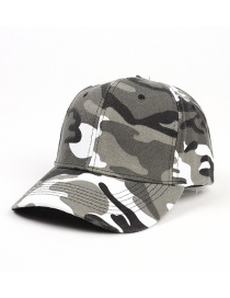 Fashion Off-white Camouflage Camouflage Print Curved Brim Sunshade Cap