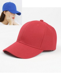 Fashion Red Light Board Solid Color Curved Brim Sunshade Cap