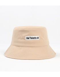 Fashion Khaki Letter Embroidered Sun Cover Fisherman Hat