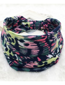 Fashion Tie Dye Melange Printed Wide-sided Geometric Stretch Headband