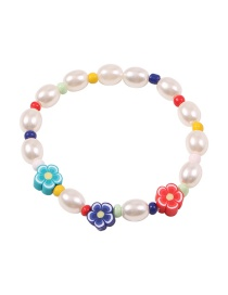 Fashion Color Pearl Flower Resin Bracelet