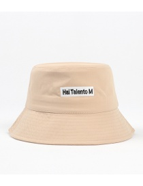 Fashion Khaki Letter Embroidered Sunscreen Fisherman Hat