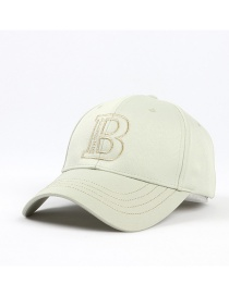 Fashion Light Green Sun Protection Letter Embroidery Baseball Cap